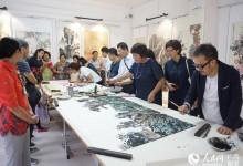 新加坡、梧州、昭平三地美术作品交流展在昭平县城举行